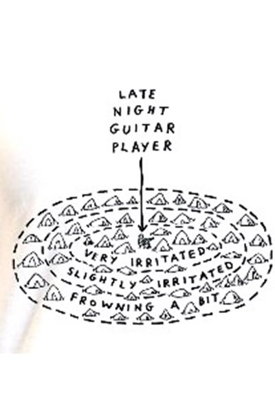 'Guitar Player' T-Shirt (Grey, Kids 5-6)