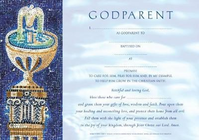 Godparent Certificates Boy Traditional