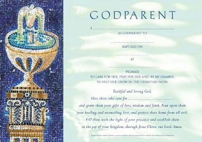 Godparent Certificates Girl Traditional