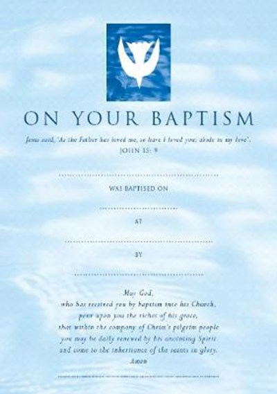 Baptism Certificates Contemporary