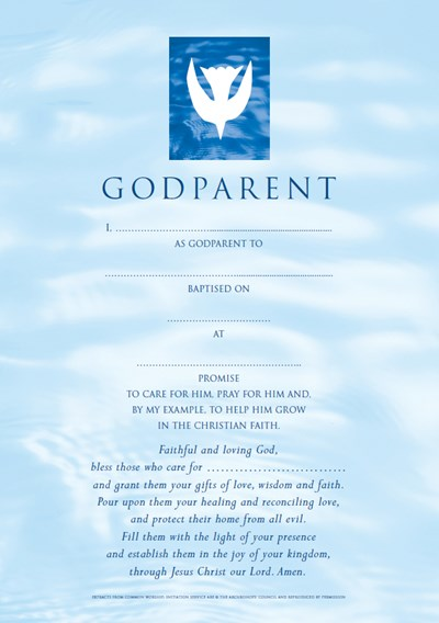 Godparent Certificates Boy Contemporary